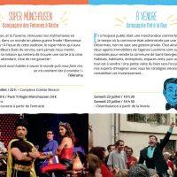Pages du programme
